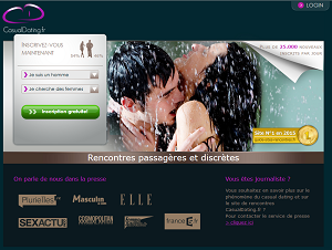 La homepage de Casual Dating